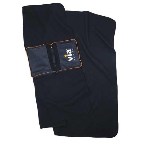 BRIGHTtravels Packable Fleece Blanket