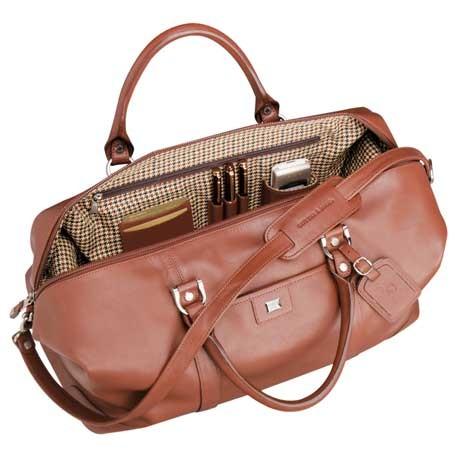 "Cutter & Buck® 19"" Leather Weekender Duffel Bag"