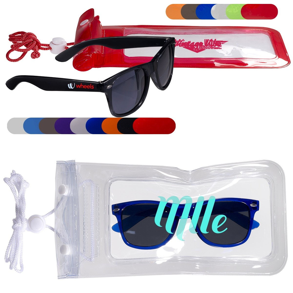 Fashion Sunglasses & Water-Resistant Pouch