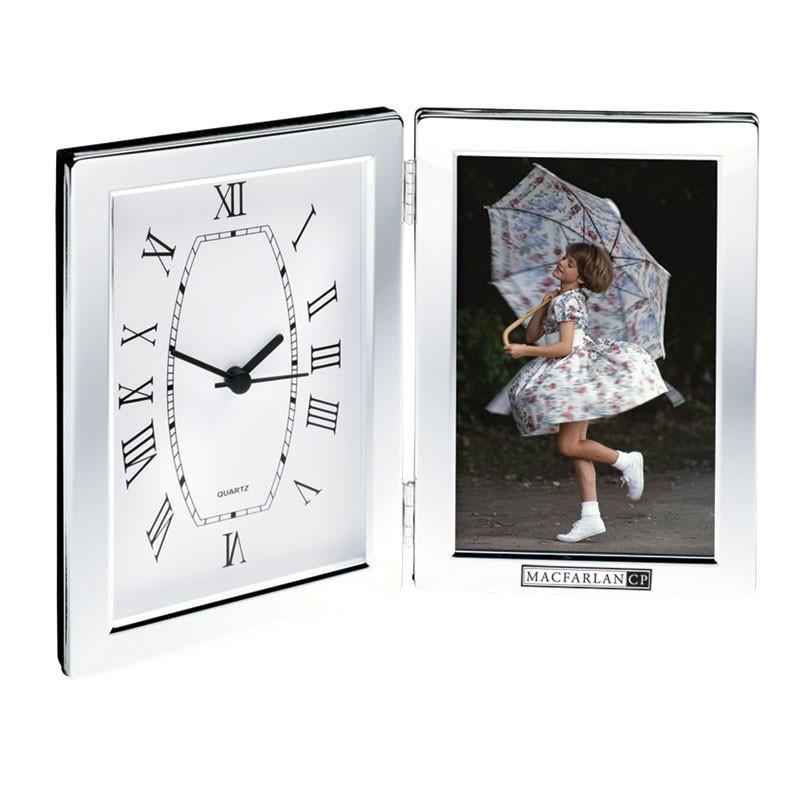 Jadis I Hinged Desk Clock & Photo Frame