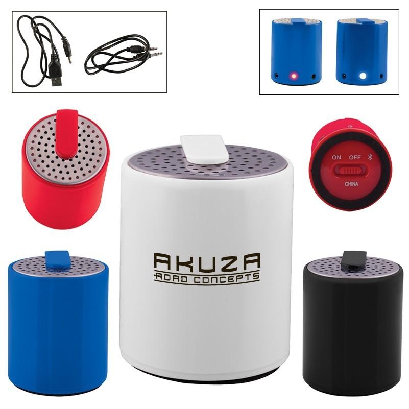 Round Plastic Mini Bluetooth® Wireless Speaker