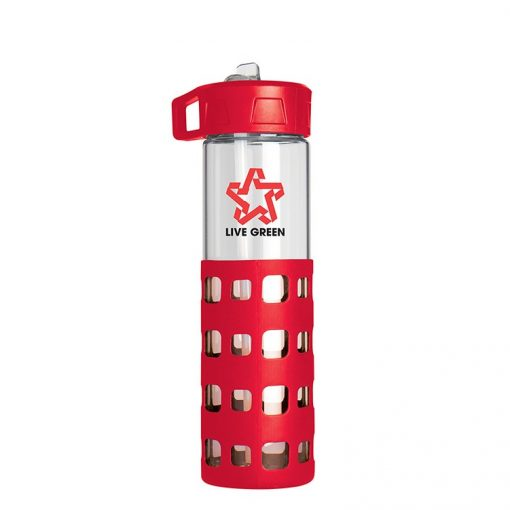 Sip-N-Go Glass Water Bottle - 20 Oz.