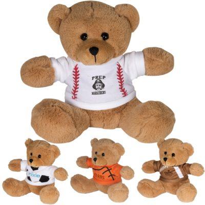 "7"" GameTime® Plush Bear with T-Shirt"