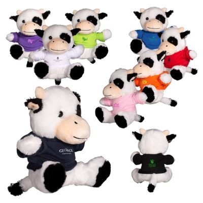 "7"" Plush Cow Stuffed Animal"
