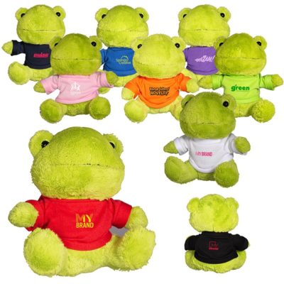 "7"" Plush Frog Stuffed Animal"