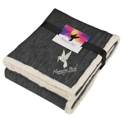 Field & Co. Heathered Fleece Sherpa Blanket w/Card