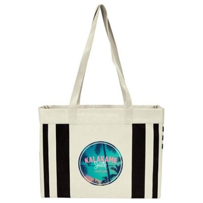 Fletcher 16oz Cotton Canvas Striped Tote