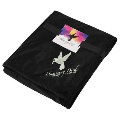 Sherpa Home Throw with Full Color Card and Band