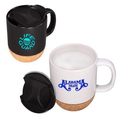14 Oz. Ceramic Mug w/Cork Base