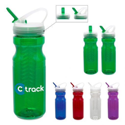 24 oz Polyclear Fruit Fusion Bottle