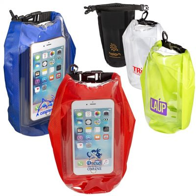 2L Water-Resistant Dry Bag w/Mobile Pocket