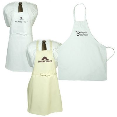 Butcher Apron -Natural And White