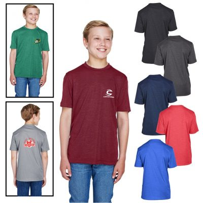 Team 365® Youth Sonic Heather Performance T-Shirt