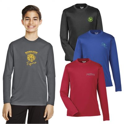 Team 365® Youth Zone Long Sleeve Performance T-Shirt