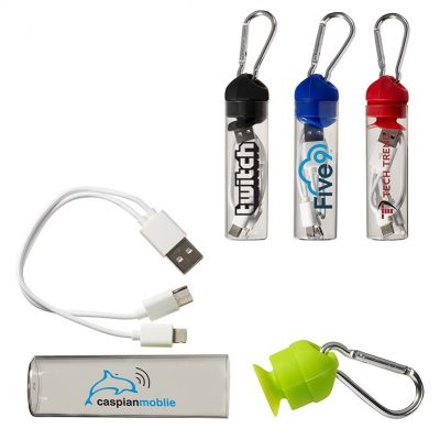 3-in-1 Charger Cable in Carabiner Storage Tube