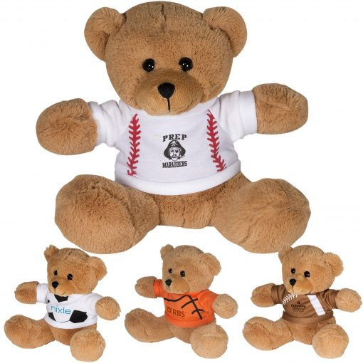 "7"" GameTime!® Plush Bear w/T-Shirt"