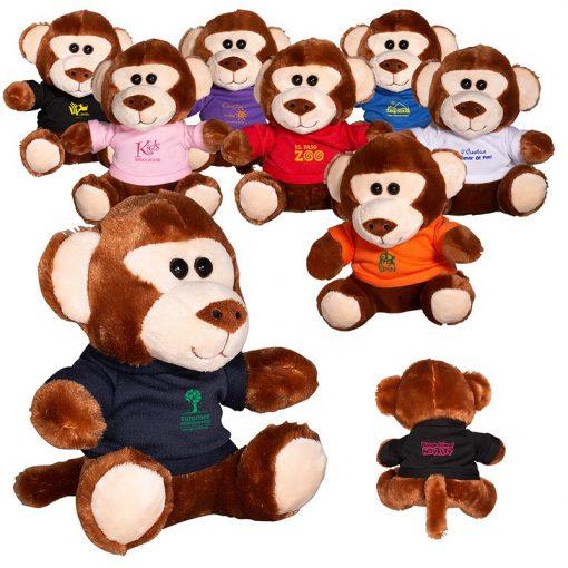 """7"""" Plush Monkey w/T-Shirt"""