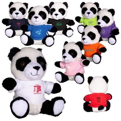 "7"" Plush Panda w/T-Shirt"