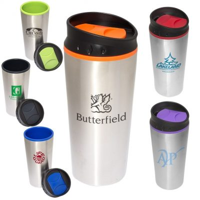 15 Oz. Color Bloc Top Tumbler