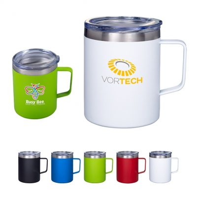 12 Oz. Vacuum Insulated Coffee Mug w/Handle