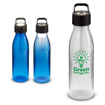 24 Oz. Water Bottle w/Rechargeable COB Light in Lid