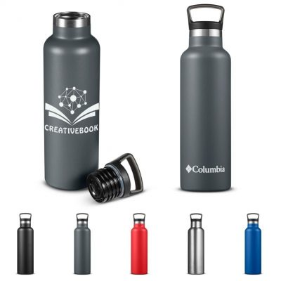 21 Oz. Columbia® Double-Wall Vacuum Bottle w/Loop Top