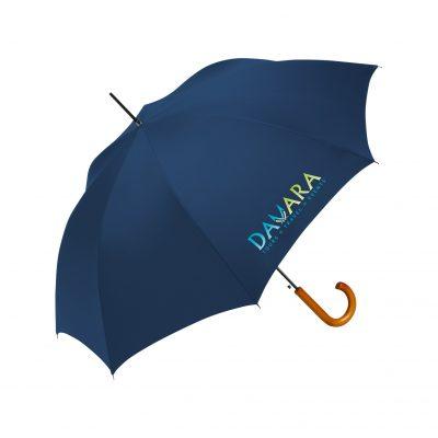Auto Open Stick Umbrella w/Wood Handle