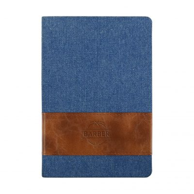 Denim w/Leatherette Band Journal