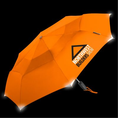 WalkSafe® Vented Auto Open & Close Compact Umbrella