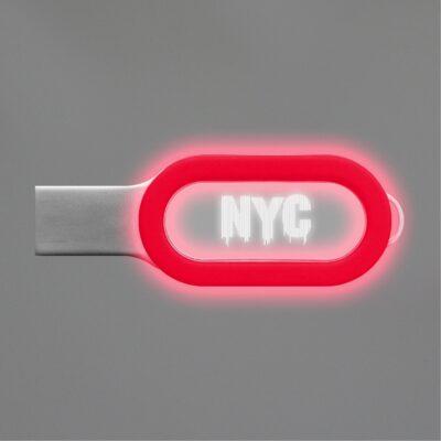 Acrylic Light Up USB 2.0 Flash Drive