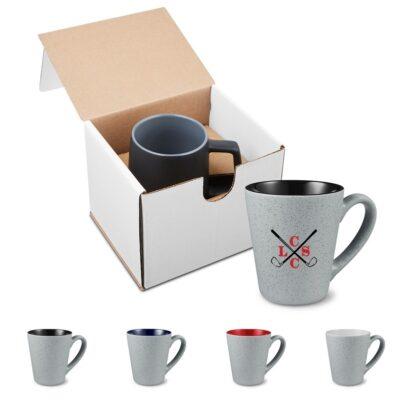 16 Oz. Fleck & Timbre Ceramic Mug in Individual Mailer