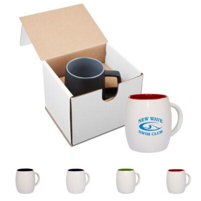 4 Oz. Morning Show Barrel Mug in Individual Mailer